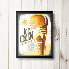 PLACA ICE CREAM DELICIOUS na internet
