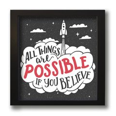 QUADRO FRASE THINGS POSSIBLE na internet