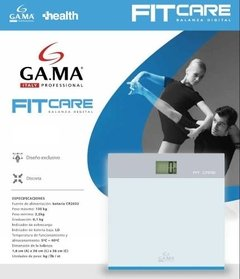 Balanza Digital Personal De Vidrio Gama Fit Care Hasta 150kg en internet