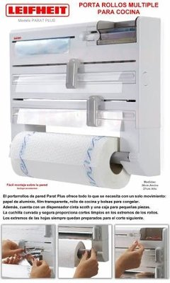 Imagen de Portarrollo Multiple De Pared Leifheit Parat Plus Aleman