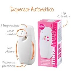 Dispenser Aromatizador + 2 Fragancias Make Fresh + 2 Pilas - tienda online