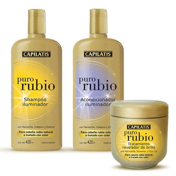 Capilatis Puro Rubio Shampoo Acondicionador Tratamiento