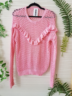 Sweater Pink Volados (27129)