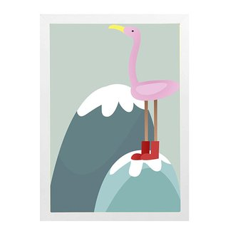 quadro-flamingo-mama-loves-you
