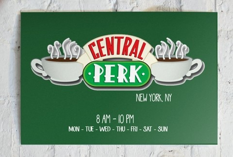 Combo 4 cuadros Friends S y 1 Central Perk L