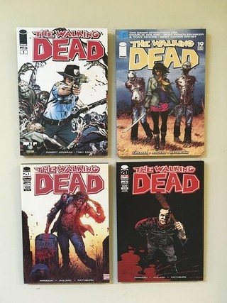 Combo 4 cuadros The Walking Dead Comic - comprar online