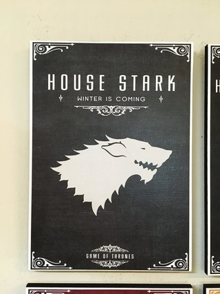 Combo 4 cuadros Casas Game of Thrones - Deco Delorean