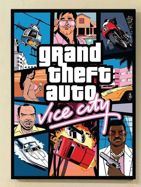Cuadro Grand Theft Auto Vice City - comprar online