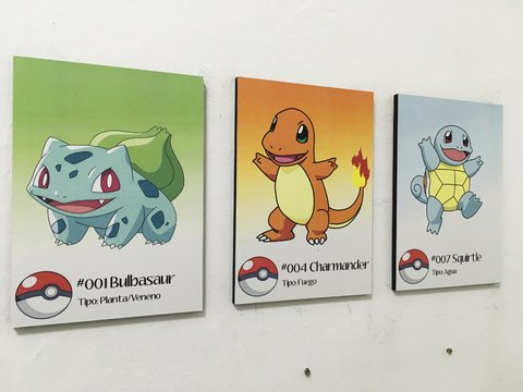 Tríptico Pokemon Bulbasaur Charmander Squirtle