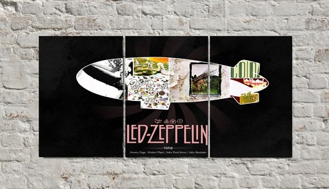 Cuadros - Triptico Led Zeppelin Dirigible 2