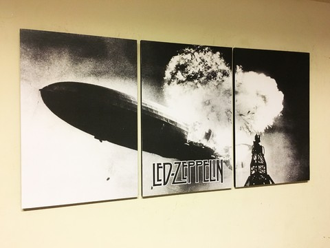 Cuadros - Triptico Led Zeppelin Dirigible