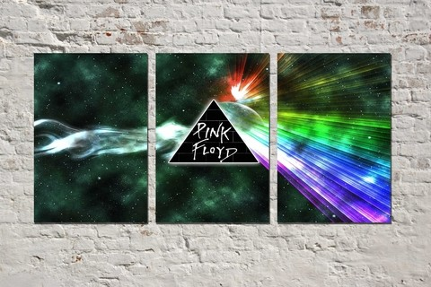 Cuadros - Triptico Pink Floyd Dark Side of the Moon 03