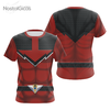 Camisa Uniforme Power Ranger Red - Força do Tempo