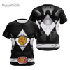 Camisa Uniforme Power Ranger Black
