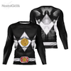Camisa Manga Longa Uniforme Power Ranger Black