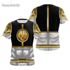 Camisa Uniforme Power Ranger Silver