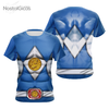 Camisa Uniforme Power Ranger Blue
