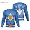 Camisa Manga Longa Uniforme Power Ranger Blue