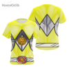 Camisa Uniforme Power Ranger Yellow