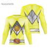 Camisa Manga Longa Uniforme Power Ranger Yellow
