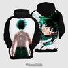 Moletom Boku No Hero Midoriya Estampa Total Frente e Costas - comprar online