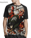Camisa Raglan Mikasa Ackerman Attack on Titan Estampa Total Frente