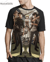 Camisa Raglan Attack on Titan Estampa Total Frente MOD.6