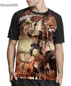 Camisa Raglan Attack on Titan Estampa Total Frente MOD.3