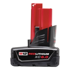 Bateria 12v Xc 6,0ah Milwaukee Red Lithium Extended C. 2460