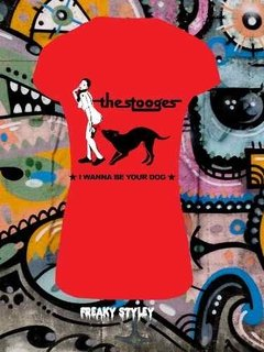 Remera The Stooges I Wanna Be Your Dog, Iggy Pop