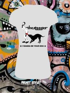 Remera The Stooges I Wanna Be Your Dog, Iggy Pop en internet
