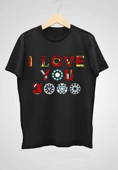 REMERA AVENGERS I LOVE YOU 3000