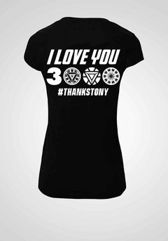 REMERA AVENGERS I LOVE YOU 3000 THANKS TONY - comprar online