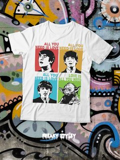 REMERA ALL YOU NEED IS YODA (BEATLES, STAR WARS) - comprar online