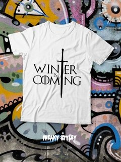 REMERA GAME OF THRONES WINTER IS COMING - comprar online