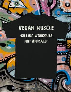 Remera Concious Muscle is Vegan Muscle Doble Estampa - Freaky Styley