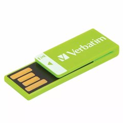 Memoria Usb 16 Gb Pendrive Verbatim Clip It Usb Verde