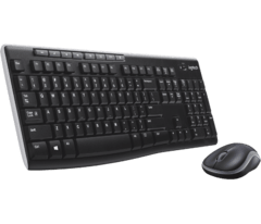 Combo Teclado Mouse Inalambrico Logitech Mk270 Wireless Fs