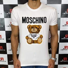 Camiseta Moschino Bordada Branca