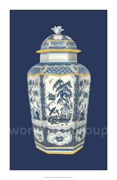 Asian Urn in Blue & White II- Vision Studio - comprar online