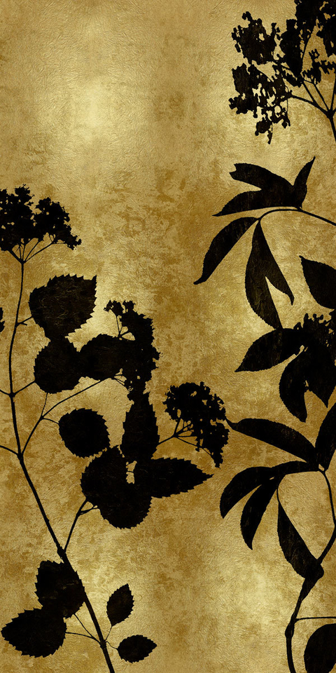 Nature Panel Black on Gold II - Danielle Carson