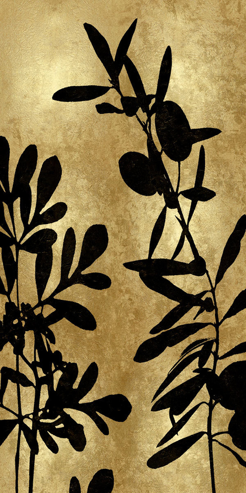 Nature Panel Black on Gold III - Danielle Carson