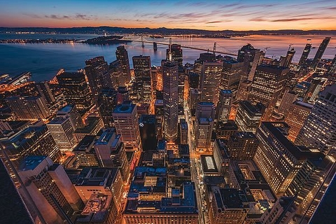 Morning Look Down San Francisco - Bruce Getty