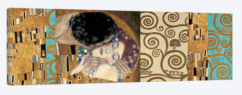 quadro do o beijo do Gustav Klimt