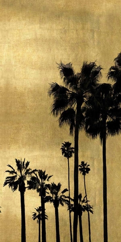 Palm Silhouette on Gold II - Kate Bennett