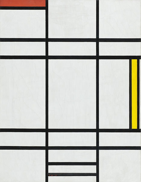 Composition in White, Red, and Yellow - Piet Mondrian