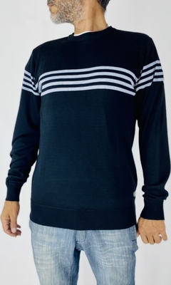 SWEATER RAYAS BLK