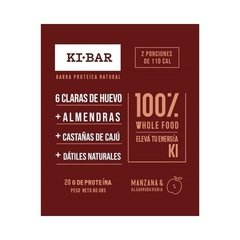 Barra Natural Proteica Manzana - Ki Bar - 80 g