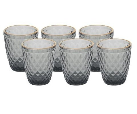 VASO BAJO DIAMOND SMOKED SET X6