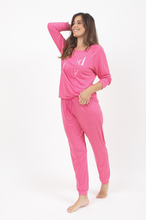 Pijama Good Day Fucsia - 92051